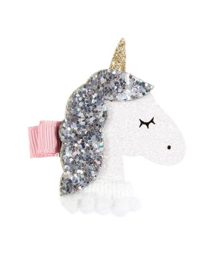 Unicorn Glitter Hair Clip