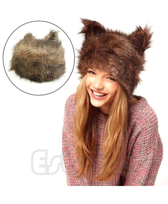 Cute Faux Fur Foxy Hat