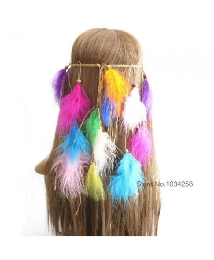 Colourful Feather Headdress