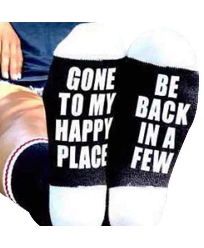 Gone to my Happy Place Socks, Novelty Socks