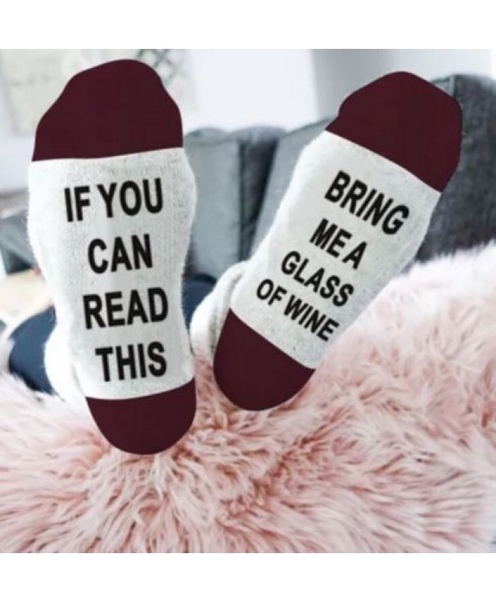 If You Can Read This, Bring Me Wine Socks, Novelty Socks