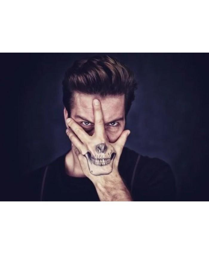 Skull Halloween Tattoo, Skeleton Outfit