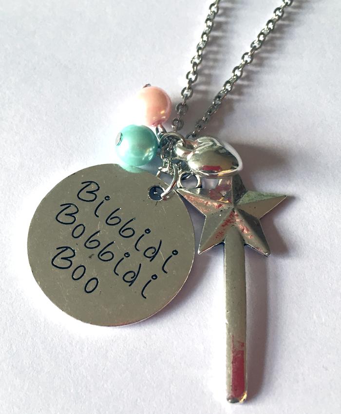 'Bibbidi Bobbidi Boo' Cinderella Necklace
