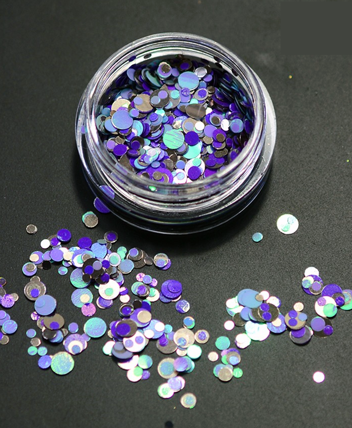 Chunky Blue Face and Body Glitter