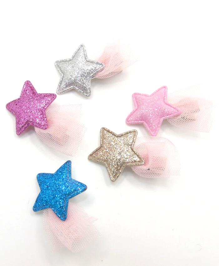 Glitter Flutter Star Hair Clip