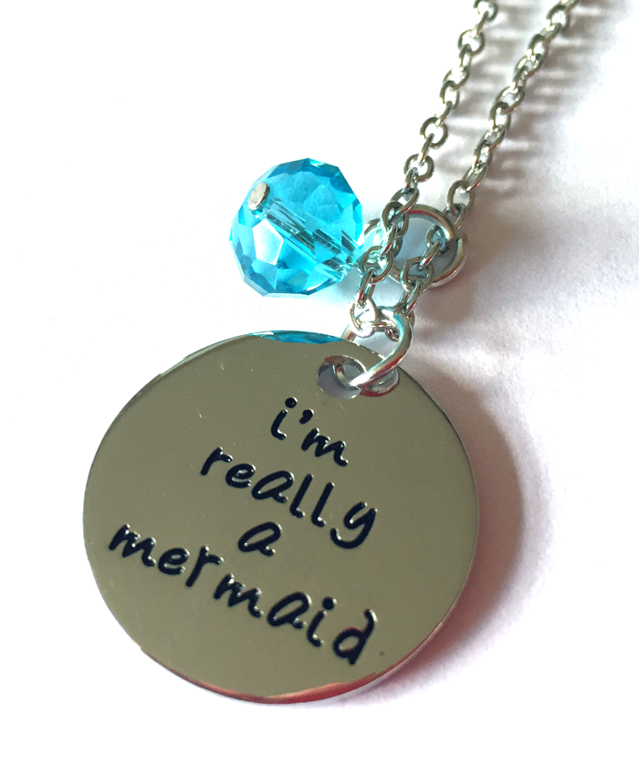 'I'm Really a Mermaid' Little Mermaid Necklace