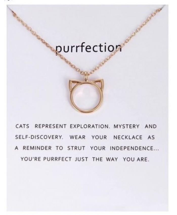 Purrfection Necklace, Cat Necklace