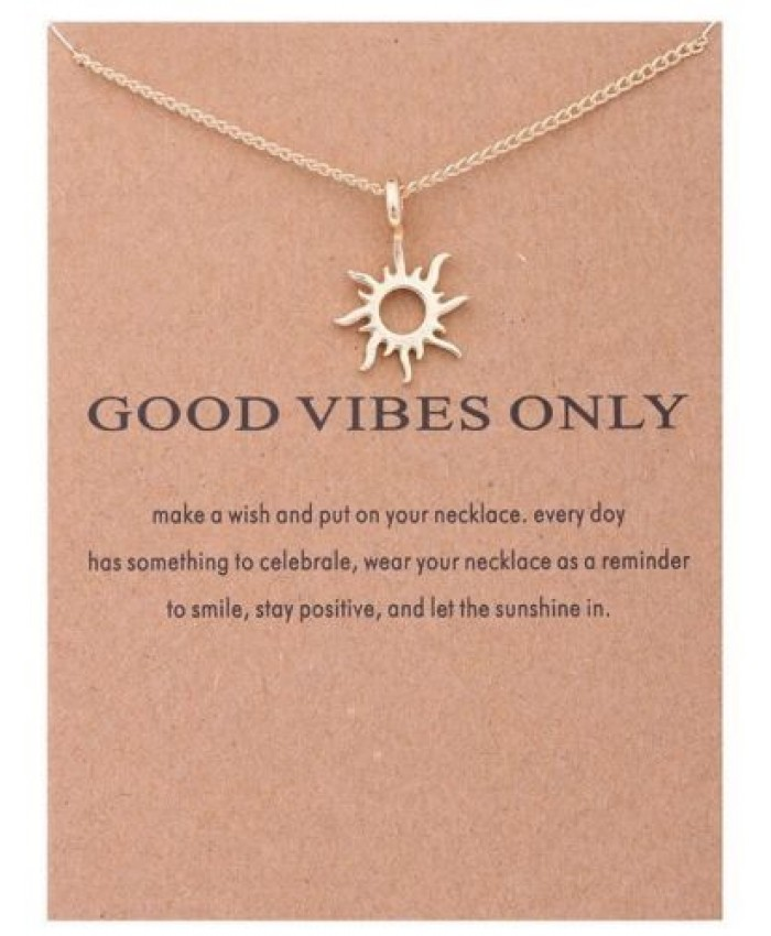 Good Vibes Necklace, Sun Necklace