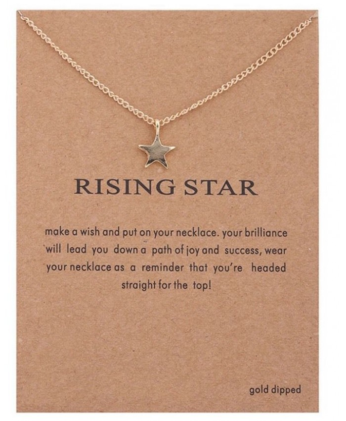 Rising Star Necklace, Star Necklace