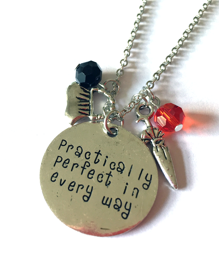 'Practically Perfect' Mary Poppins Necklace