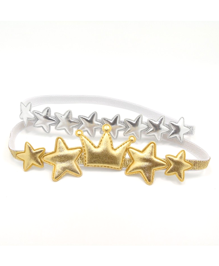 Silver or Gold Star Headband