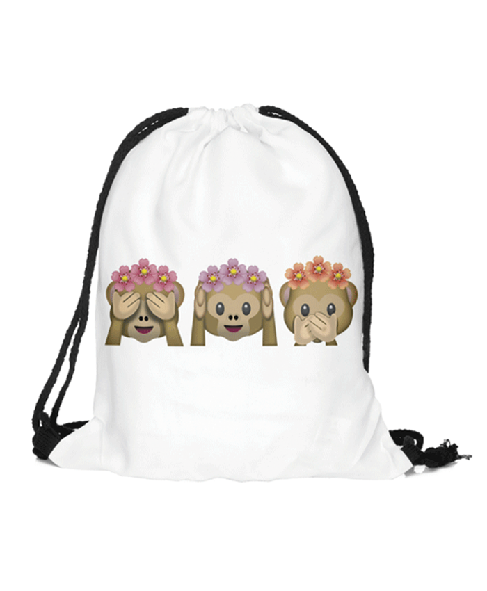 Emoji See no Evil, Hear no Evil, Speak no Evil Monkey Rucksack