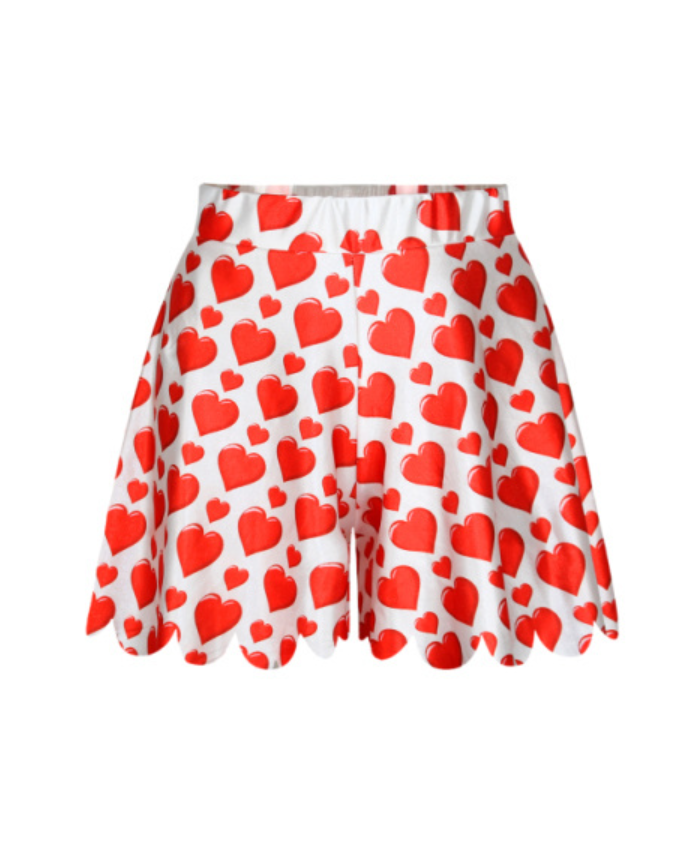 Red Heart Shorts