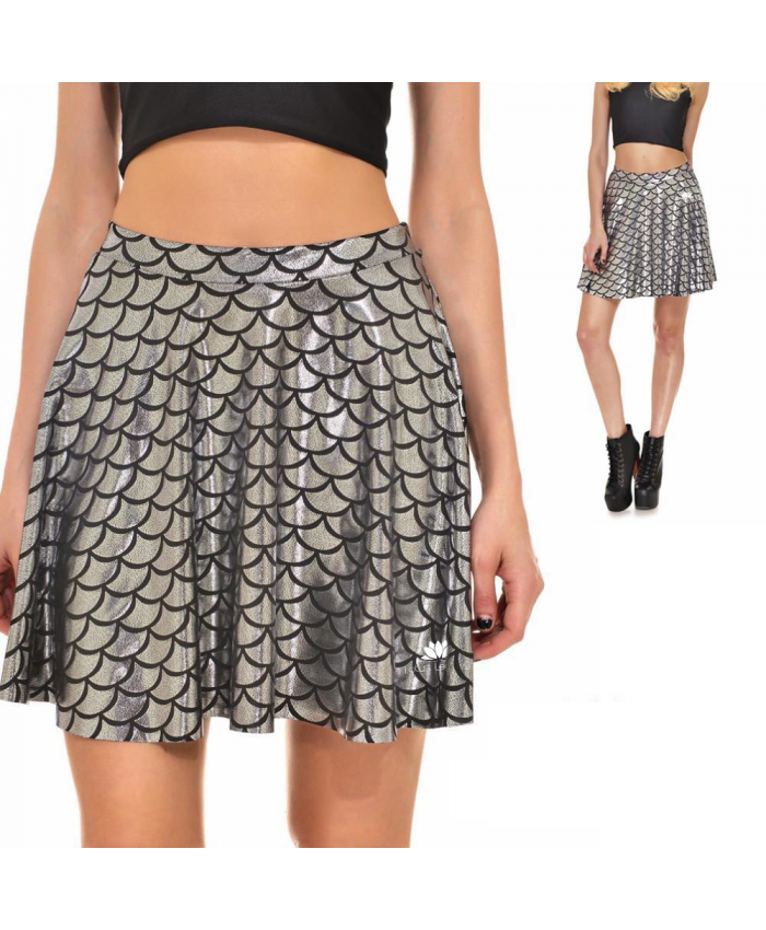 Mermaid Skirt, Silver or Black