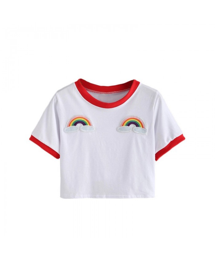 Cute Rainbow Embellished T-Shirt, Pride Top, Rainbow Top