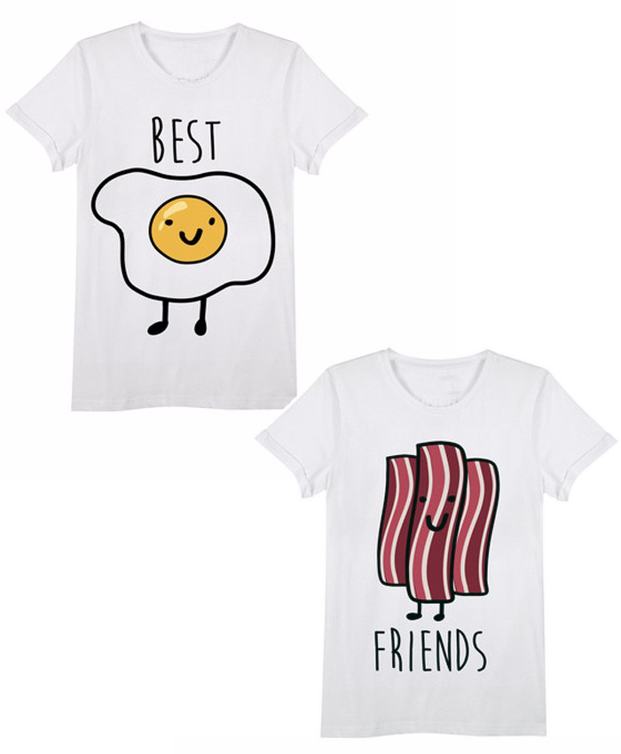 Bacon & Eggs Best Friends Tee (Pair)
