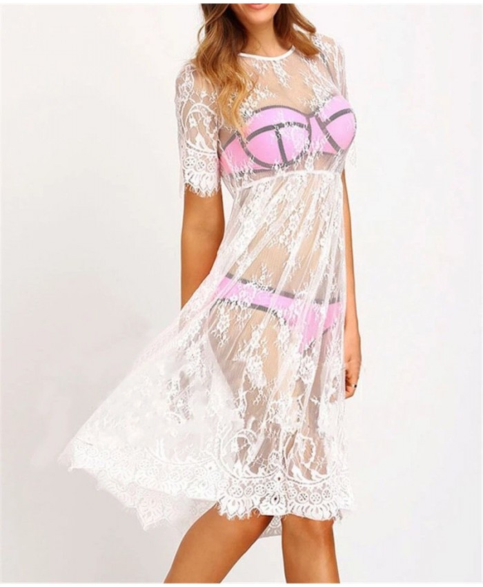 White Overlay Dress