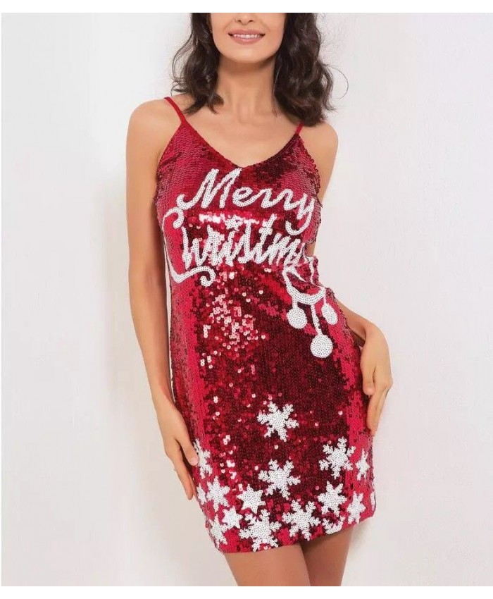 Glitz And Glam Christmas Red Dress