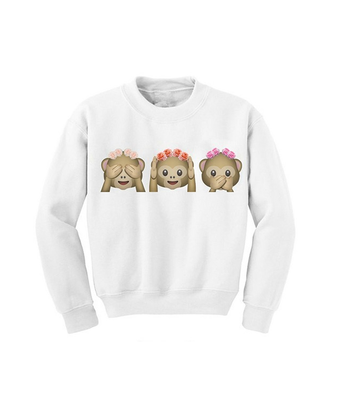 Emoji Festival Monkey Sweater