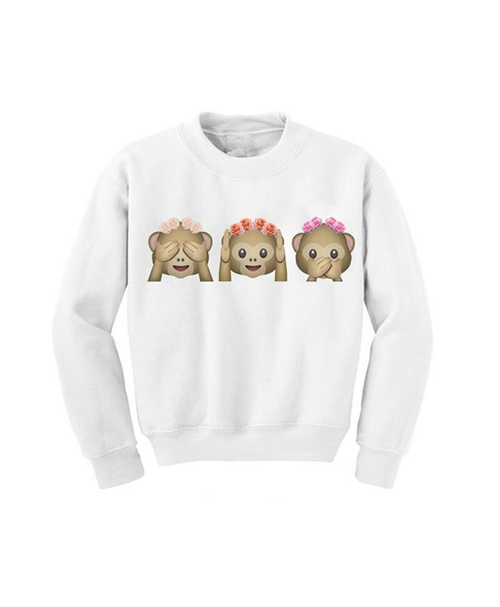 Emoji Festival Monkey Sweater