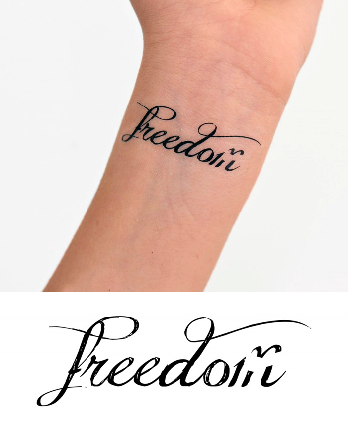 Freedom Temporary Tattoo