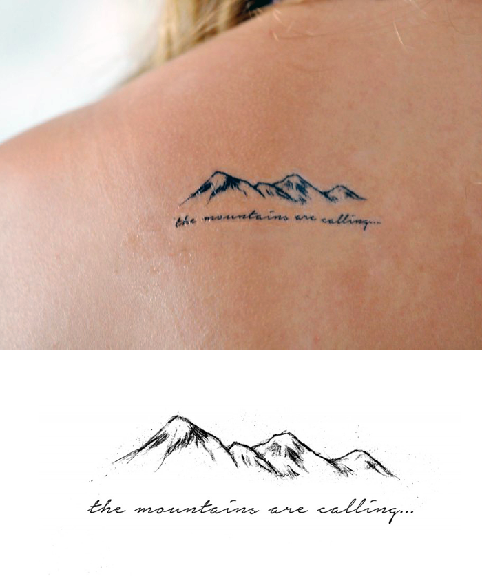 Mountains Temporary Tattoo