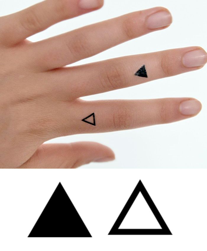 Triangles Temporary Tattoo