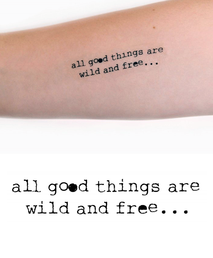 Wild & Free Temporary Tattoo