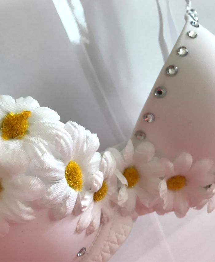 White Daisy Festival Bra